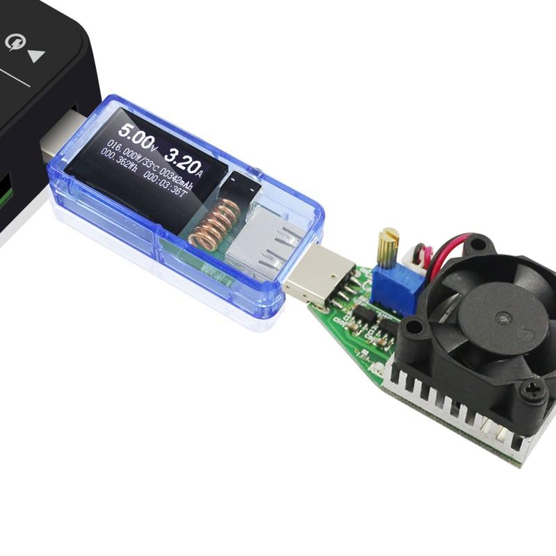 ATORCH USB tester + DC zátěž Digitální voltmetr 15W power bank - Měřicí přístroje - Fotografie 5