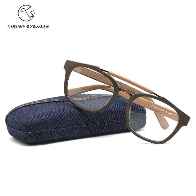 8a5f0ada78 Chasing brand Retro circular full frame optical lens frame hand plate myopia  glasses Lady degree Optical eyeglass Cs110369