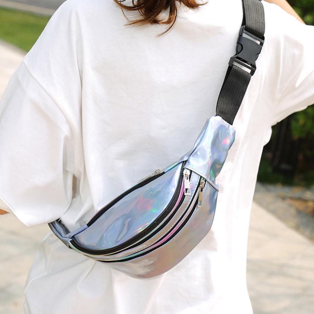 Summer Fashion Women Students Outdoor Sports Zipper Messenger Bag Chest Bag Waist Packs Women's Crossbody Belt Fanny Bag