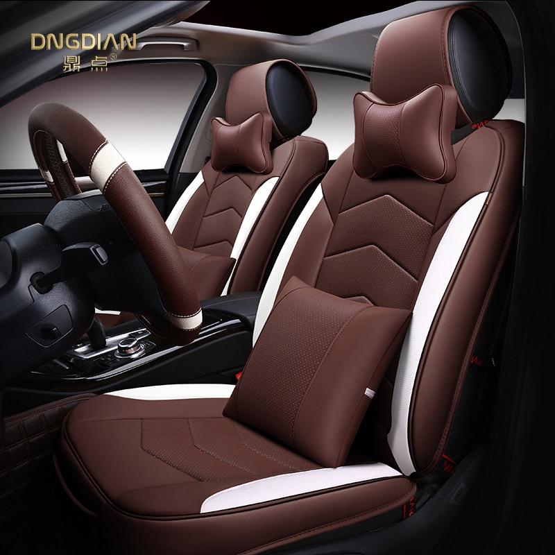 6D style housse de siège de voiture pour Cadillac ATS CTS XTS SRX SLS Escalade, cuir haute fibre,