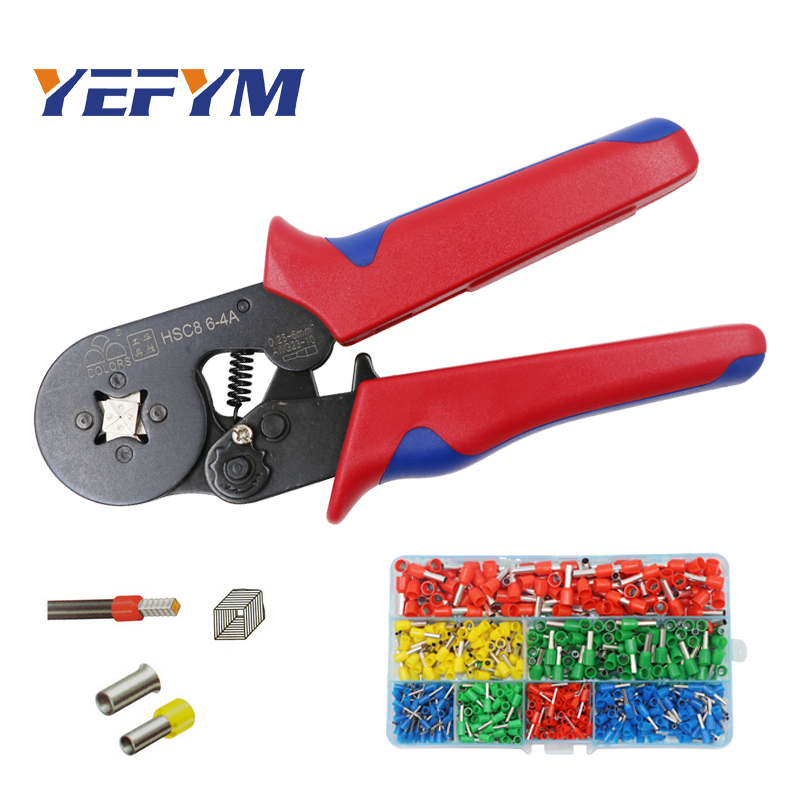 YEFYM HSC8 6-4A 6-6 0.25-6mm crimping tool crimper kablo kesici pliers cable tools crimp plier wire cutter crimpador mini plier sunny fashion girls dress princess worsted winter christmas hat lace red 2018 summer wedding party dresses clothes size 4 10