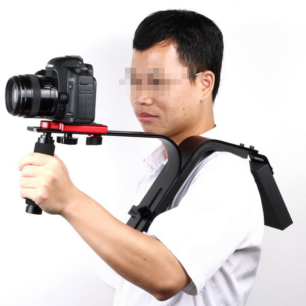 Heavy Duty Video Shoulder Support Rig Handheld Stabilizer for Camera Camcorder mz 2400fp 7 8 feet 240cm heavy duty cushioned premium black light stand for video portrait and product photography no00dc