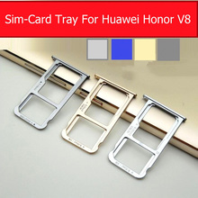 Genuine Memory & SIM Card Tray For Huawei Honor V8 AL-20 SD & Sim Card Holder adapter slot