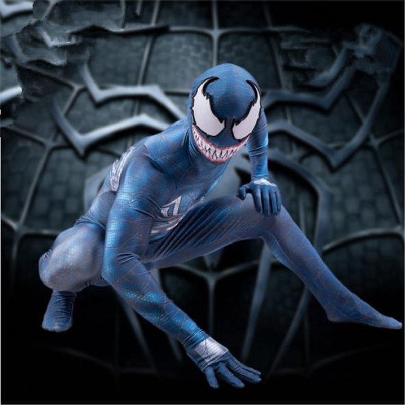 Concept Cosplay Venom Spider All-Inclusive Tights Spider-Man Superhero Show Party Game Halloween COS Suit Men's Jumpsuit