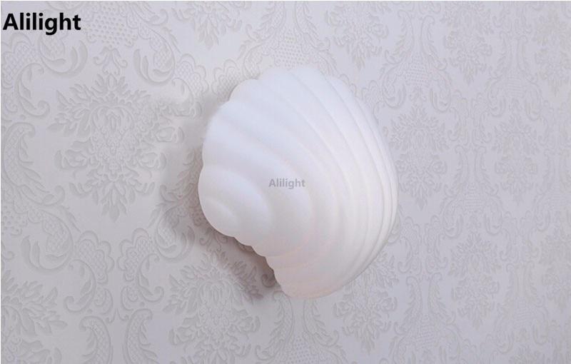 Design unico a forma di conchiglia moderno led lampade da parete