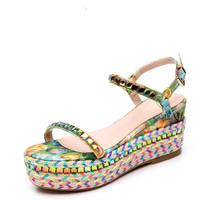 Size 34 39 New Arrival 2016 Summer Girl 39 S Shoes Elegant Flower Platform 5 5