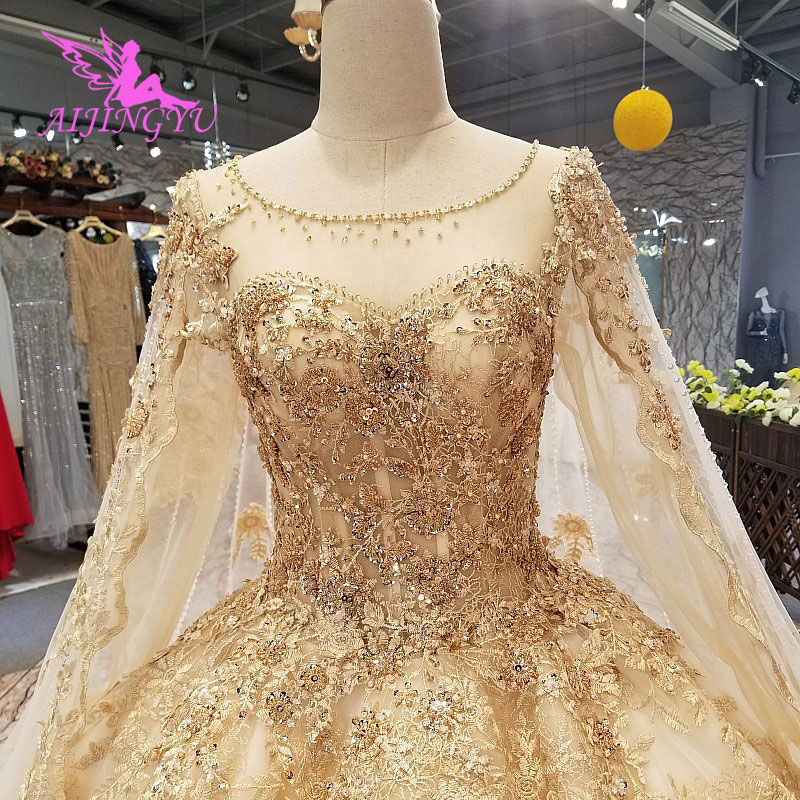 Real Retro Weddings: AIJINGYU Open Back Wedding Dress Luxury Gowns Guangdong