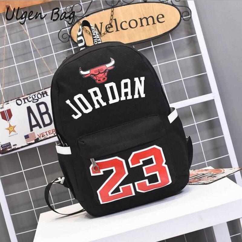Hot Sale Jordan 23 Men Backpacks Fashion Star bags Canvas Schoolbags for Teenager Boys Best Gift