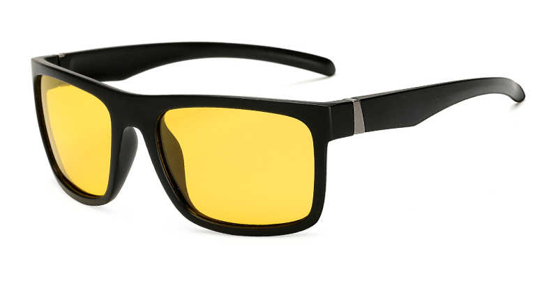 رجل للرؤية الليلية النظارات الشمسية للمصباح الأمامي نظارات شمسية مستقطبة القيادة عدسات صفراء اللون UV400 حماية ليلة نظارات طويل حارس