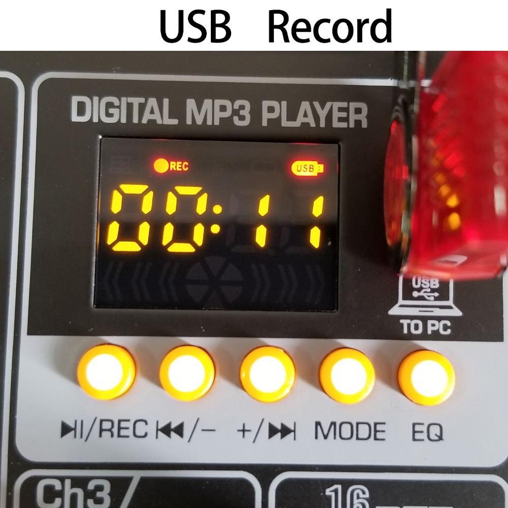 AM-G05 bluetooth usb rekord PC Playback nagrywać 4 kanałów wejście gitary 2 Mono 1 Stereo profesjonalne usb mikser audio
