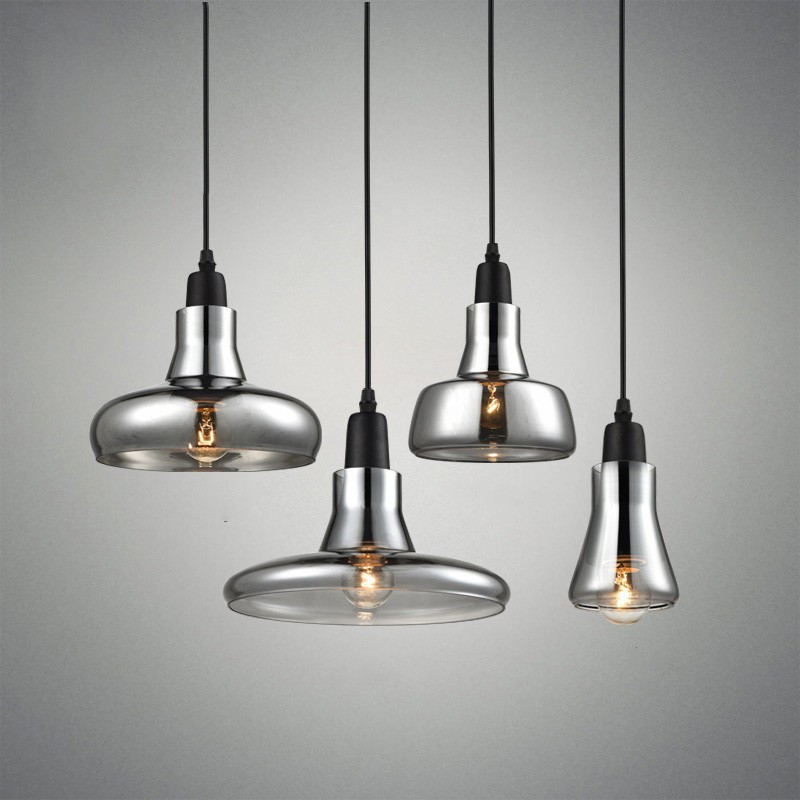 Nordic Modern Loft Led Chandelier Lighting Smoke Gray Glass Restaurant Pendant Lamps Aisle Kitchen Hanglamp Ceiling LuminaireNordic Modern Loft Led Chandelier Lighting Smoke Gray Glass Restaurant Pendant Lamps Aisle Kitchen Hanglamp Ceiling Luminaire
