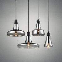 Nordic Modern Loft Led Chandelier Lighting Smoke Gray Glass Restaurant Pendant Lamps Aisle Kitchen Hanglamp Ceiling Luminaire