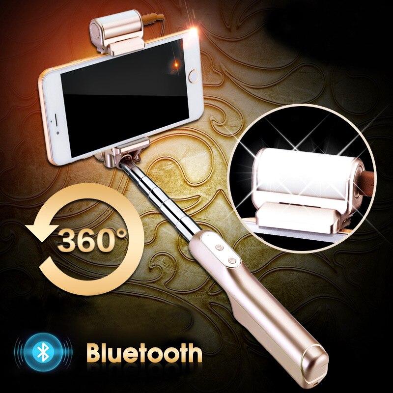 TRAVOR 2018 Monopod trípode selfie Stick Bluetooth con botón De Pau De Palo, selfie Palo para el iphone para Samsung Android