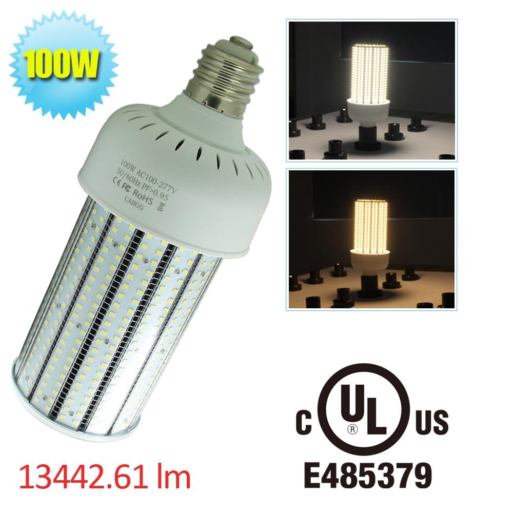 400w Metal Halide Lamp To Led: 100W LED Corn Light Bulb E39 Mogul Base 400W Metal Halide