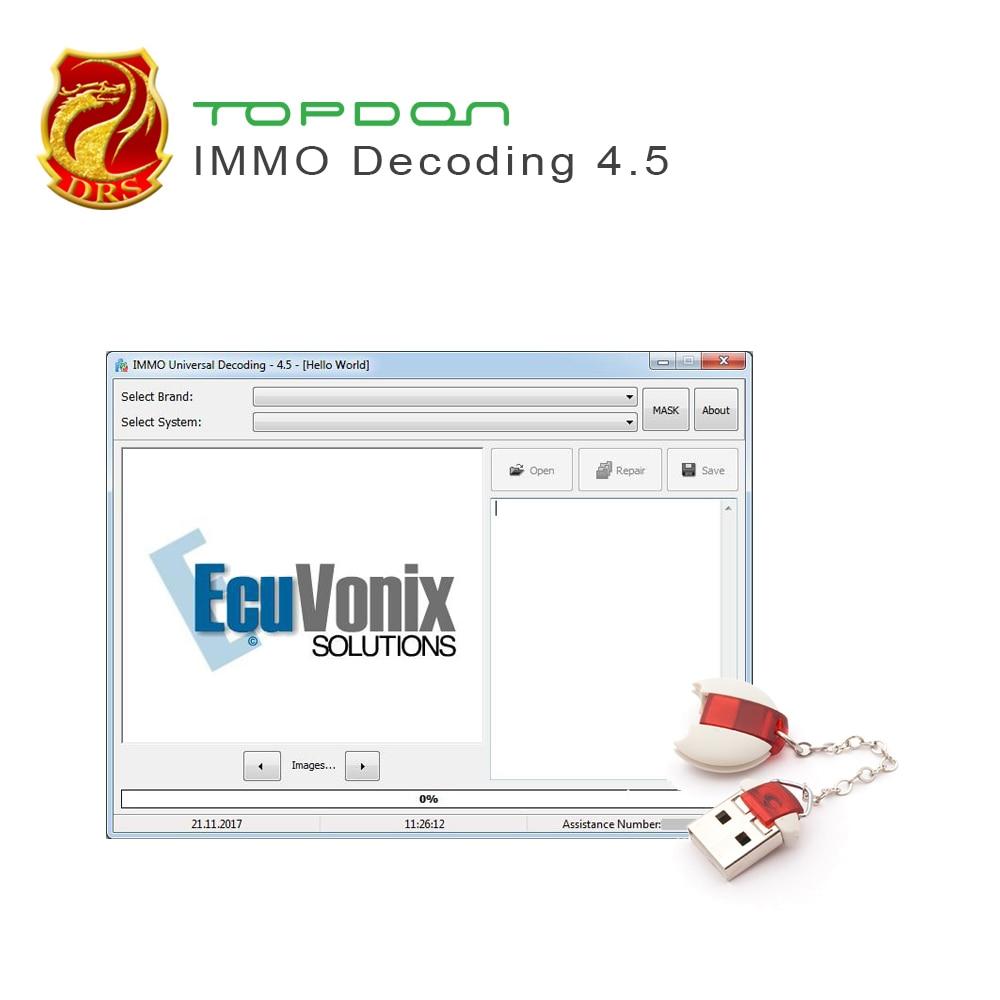 IMMO Universal Decoding 4.5 Meilleur Logiciel pour Supprimer le Code de IMMO ECU 1100 Systèmes Compatibles pour ci-dessus 10000 Modèle de Voitures