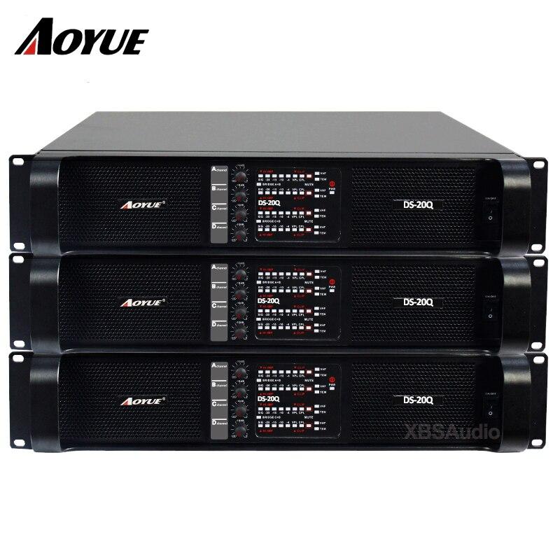 Padrão de som de áudio profissional amplificador de potência classe TD DS-20Q 4 canais