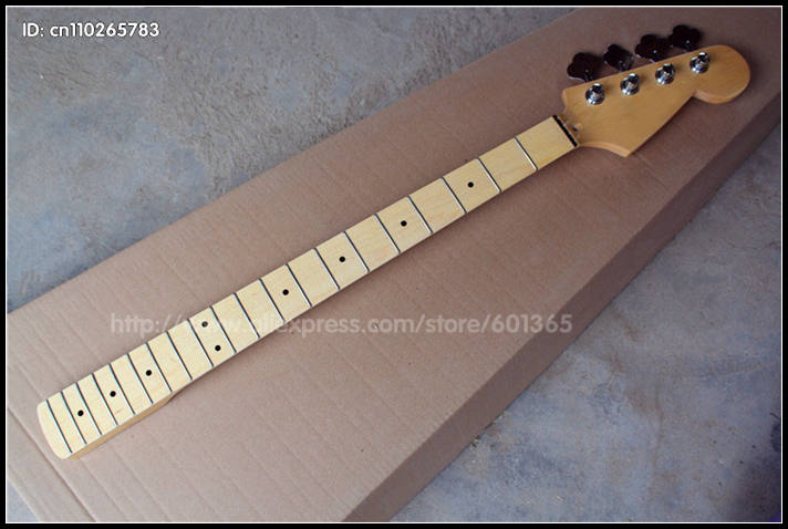 NEW 4 Strings Canadian Maple Electric Bass Neck electric Bass kit kits maple fingerboard new bassoon c tone great material than maple case bass oboe