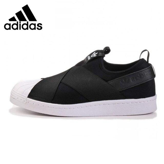 timeless design 2f9dd 9b662 Adidas Superstar Slip trébol hombres y mujeres zapatos para caminar,  rojo Negro blanco