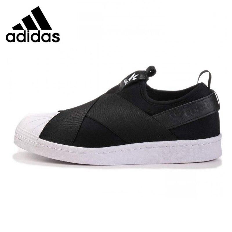 Adidas Superstar Slip Trèfle Hommes et Femmes Chaussures de Marche, rouge/Noir/Blanc, respirant Non-Slip S81340 S81337 S81338