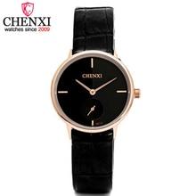 CHENXI Brand Top New Design Fashion Ladies Watches Elegant Gold&Silver Female Quartz Watch Women Thin Leather Strap Clock Montre