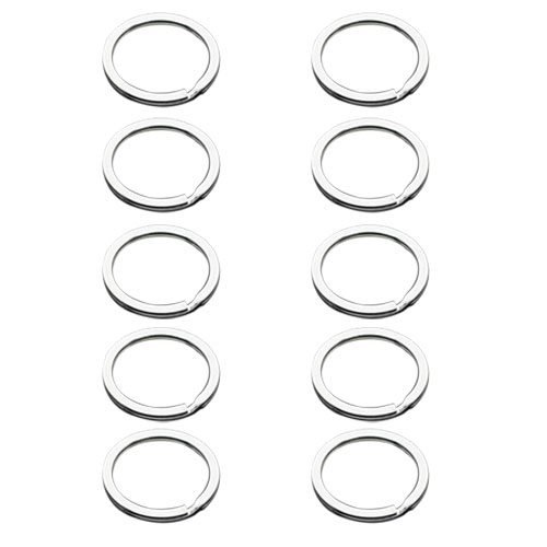 10pcs Stainless Steel Metal Key Holder Split Rings Keyring Keychain Key Fob Accessories 25mm 100pcs key rings metal split rings flat key chains rings black silver 25mm 32mm