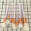 Unicorn Makeup Brushes 10 pcs Thread Rainbow full Professional Make Up Brushes set Blending Powder foundation contour Brush.