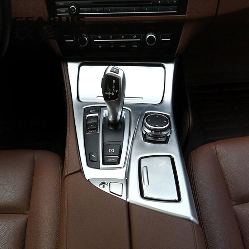 Car styling Console Pannello Telaio di Copertura Trim Supporto di Tazza di Acqua Decorazione Autoadesivo Per BMW serie 5 F10 Accessori Auto Per Interni
