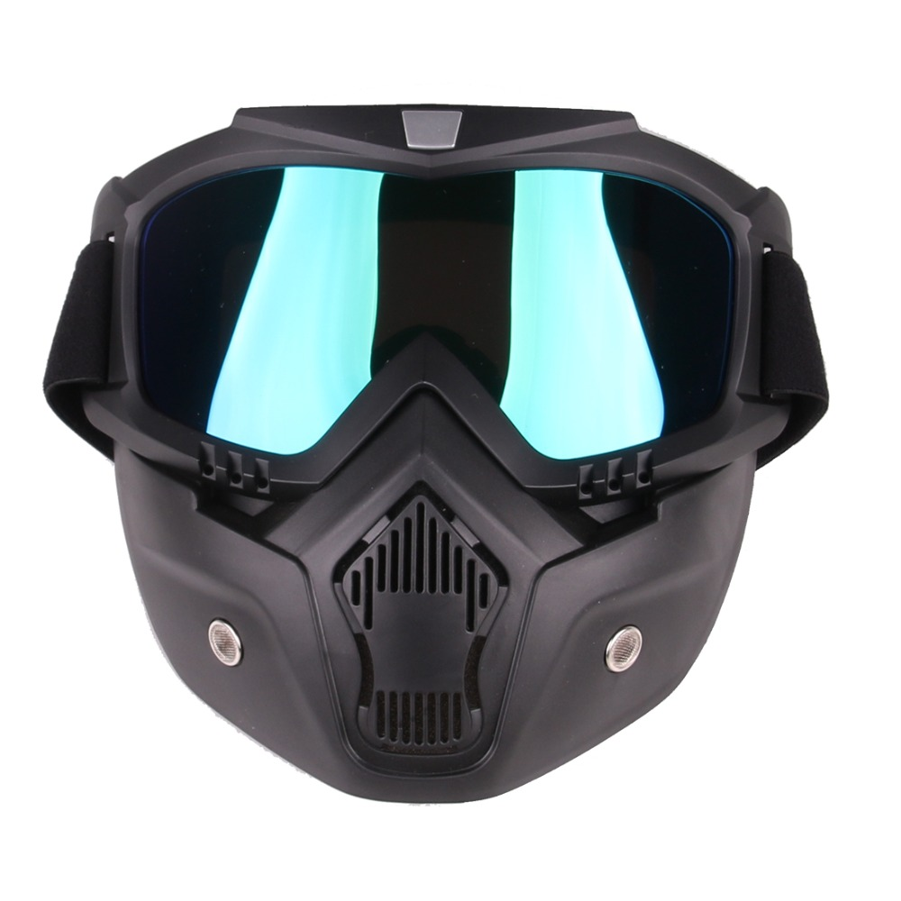 Classic Style Tactical Mask Soft Bullet Dart Beskyttende Spejl Face - Rekreation og sport i open air