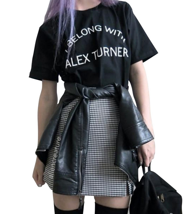ALEX TURNER T-shirt--Foreign trade speed sell tong lady T-shirt style in Europe and America