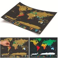 Travel Scratch Off Map Personalized World Map Great Gift Vacation Log US Stock