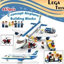 Building Blocks Bricks Toy City Town Passenger Airplane Airport Plane Set 463pcs Air bus Plane Transport aircraft Bricks Toys