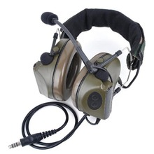 Military Tactical Headsets Z041 Noise Canceling Earphone Airsoft Paintball Gooseneck Microphone Hunting Shooting Headphone