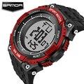 Sanda Homens Digital LED Sports Relógios de Mergulho Moda Casual estilo Militar Relógios De Pulso G S Choque Relogio masculino Marca de Luxo