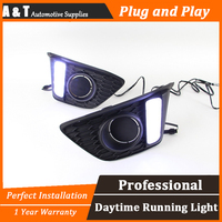 A T Car Styling For Honda FIT LED DRL For FIT Led Fog Lamps Daytime Running