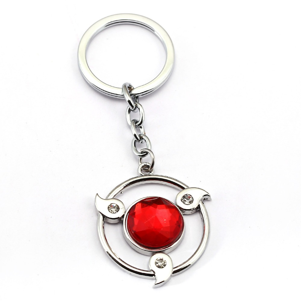 15 style Anime NARUTO Keychain Kakashi Sharingan Key Chain Sasuke Itachi Key Ring Key Holder Chaveiro