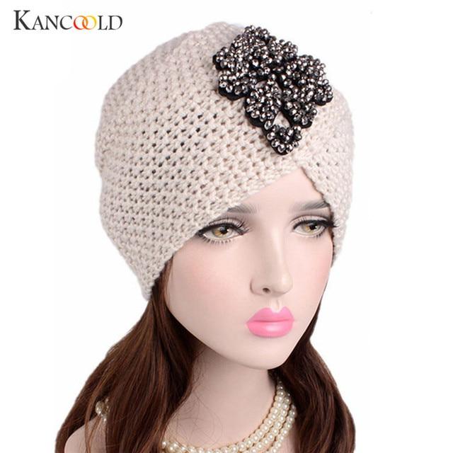 fd28506a3 US $10.59 |Caps hat female turban beanie warmer hat female warm wool  women's winter Hat applique Solid Muslim warmer beanies bonnet NO22B-in  Skullies ...