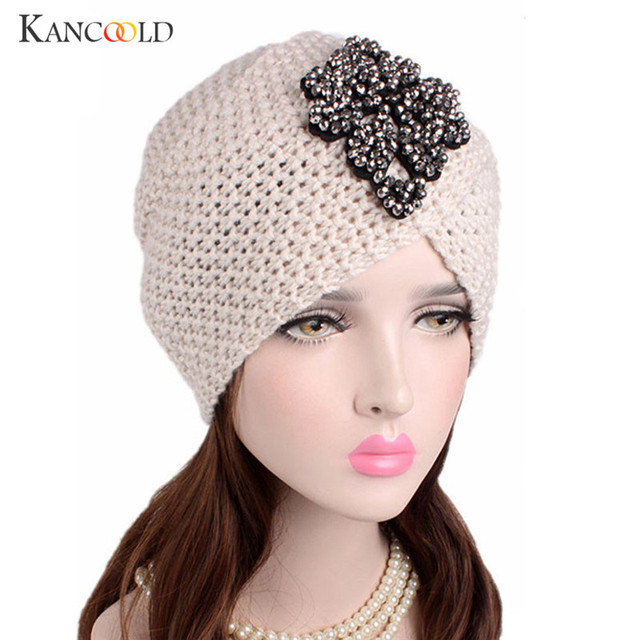 ec5d642ddb065d Caps hat female turban beanie warmer hat female warm wool women's winter Hat  applique Solid Muslim warmer beanies bonnet NO22B