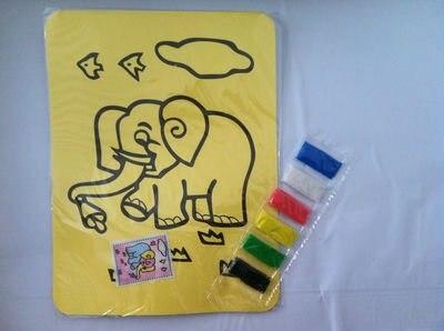 Песок искусство комплекты для дети в образовательный игрушки 200 pcs/lot