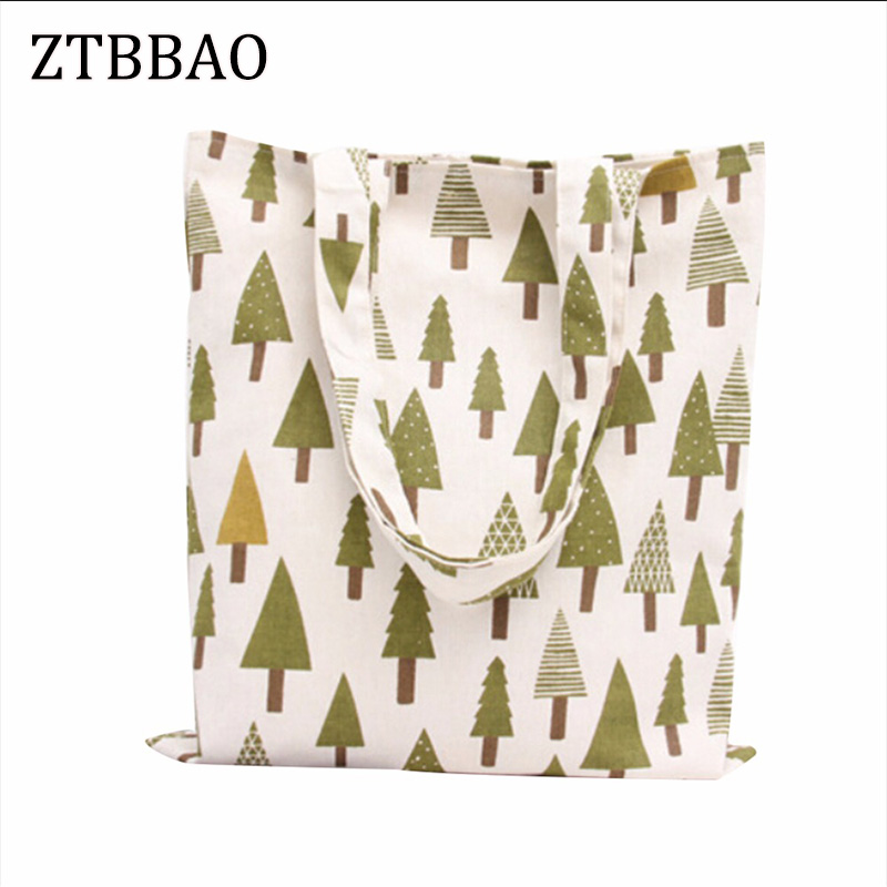 ZTBBAO 1Pc Canvas Environmental Protection Mom Shopping Bag Handbags Tote Bag Casual Shoulder Bags