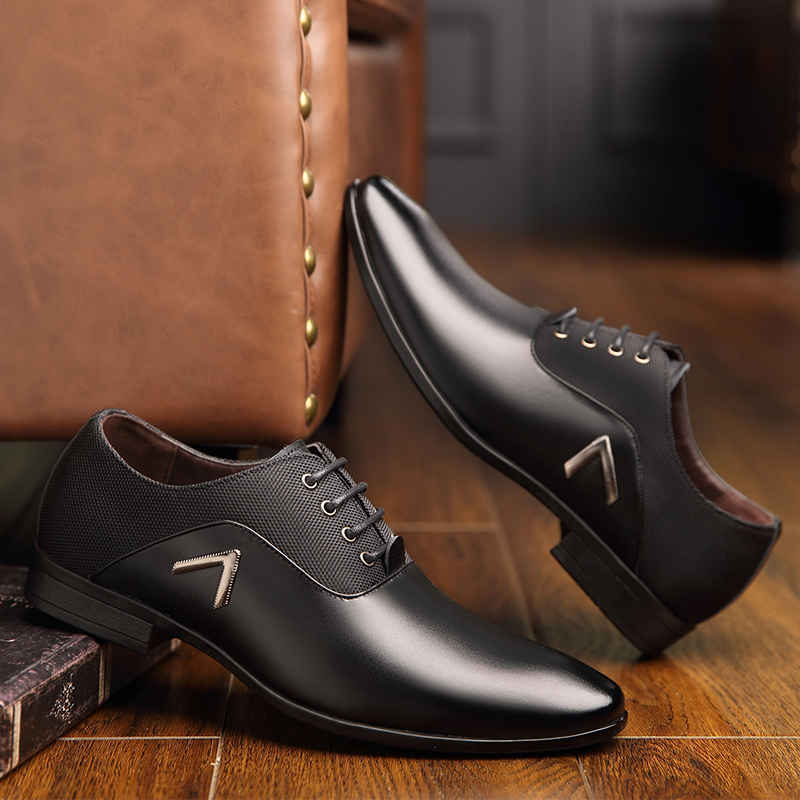 Leather Luxury Fashion Wedding Shoes