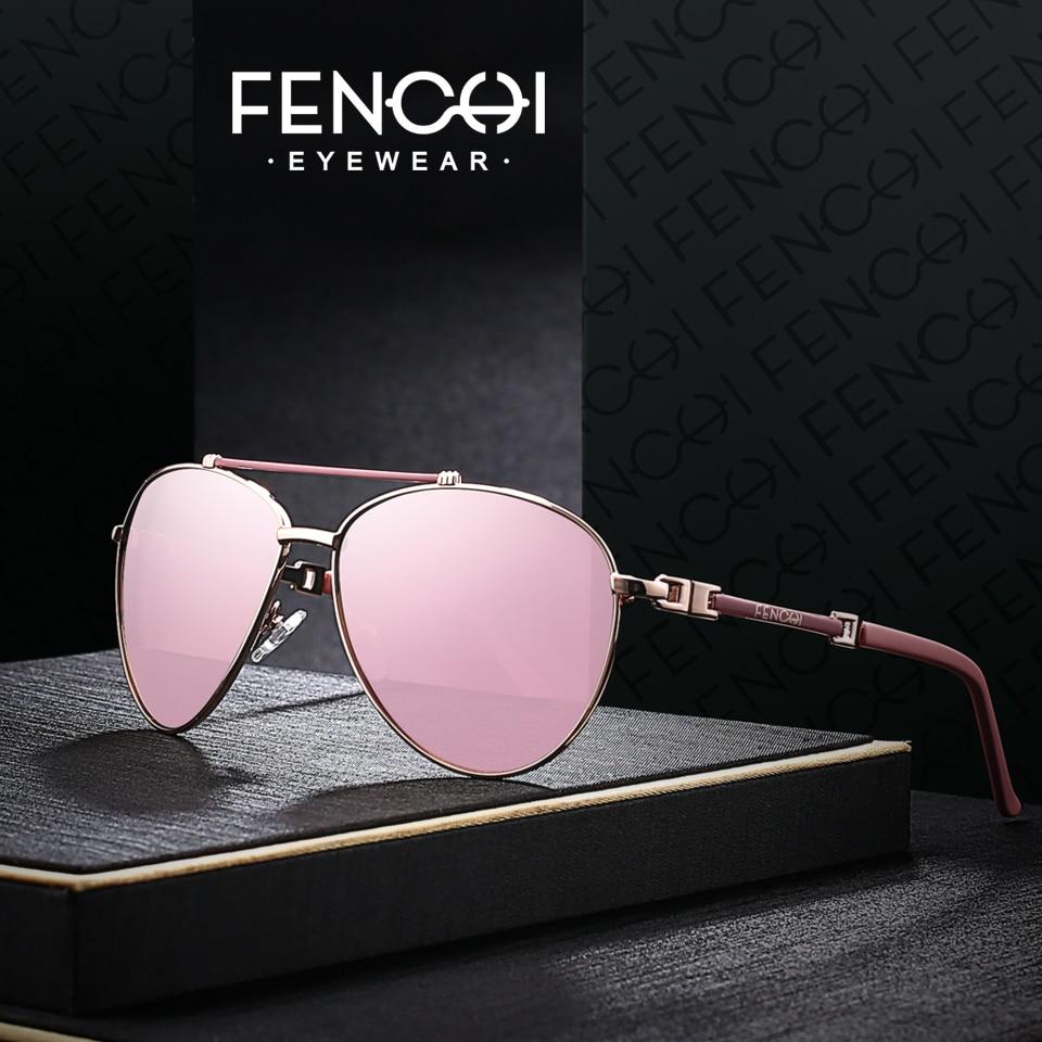FENCHI Sunglasses Women Driving Pilot  Classic Fashion Sunglasses High Quality Metal Brand Designer Glasses
