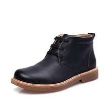 Work Shoes Men Genuine Cow Leather Outdoor Shoes Men Ankle Boots Breathable Safety Shoe Lace-up Teenager Combat Causal Footwear
