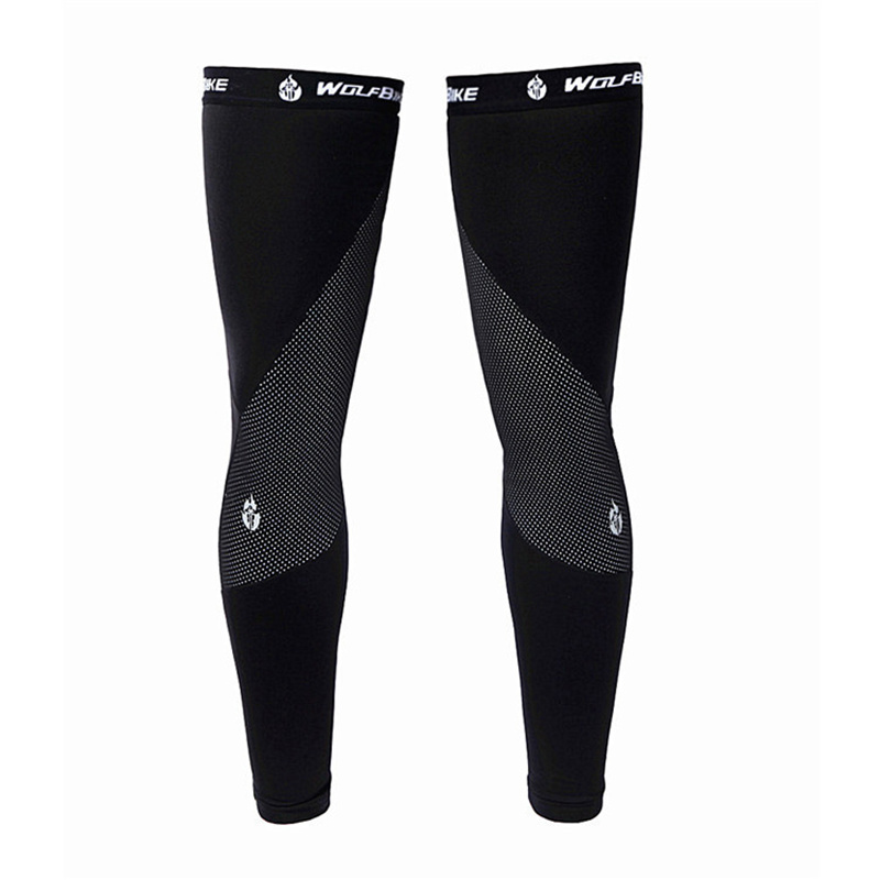 Black Cycling Bike Outdoor Sport Running Bicycle Leg Sleeve for Men Women