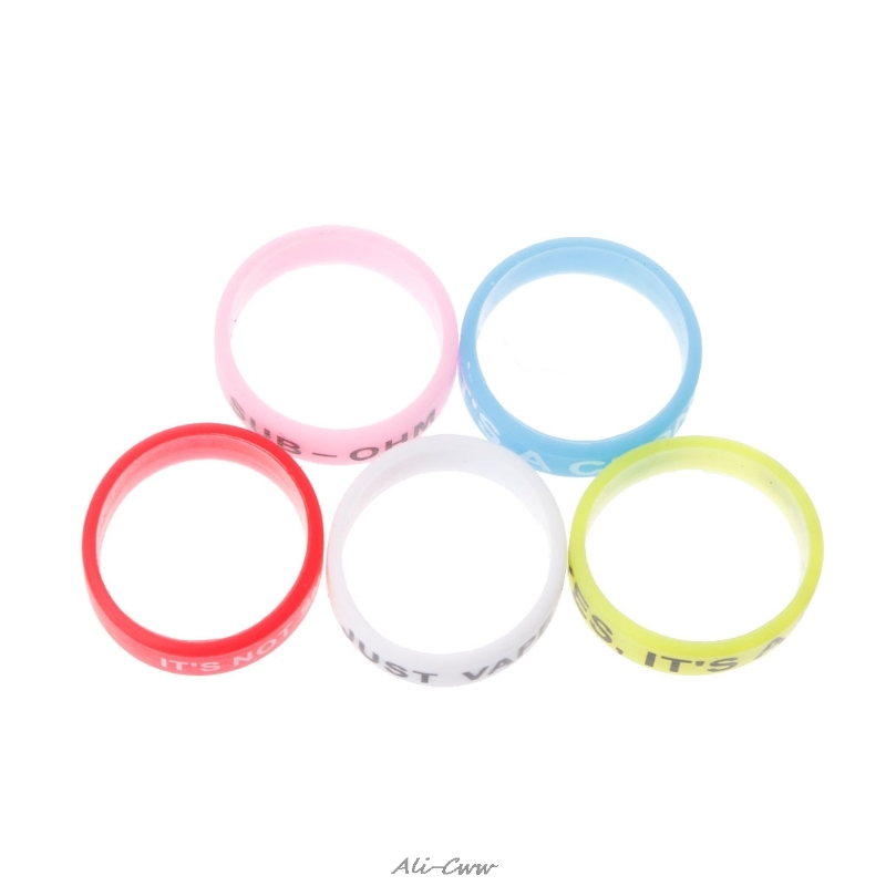 5Pcs Silicone Rings Anti-Slip Bands For Vape Tank Mods E-Cigarette Atomizers