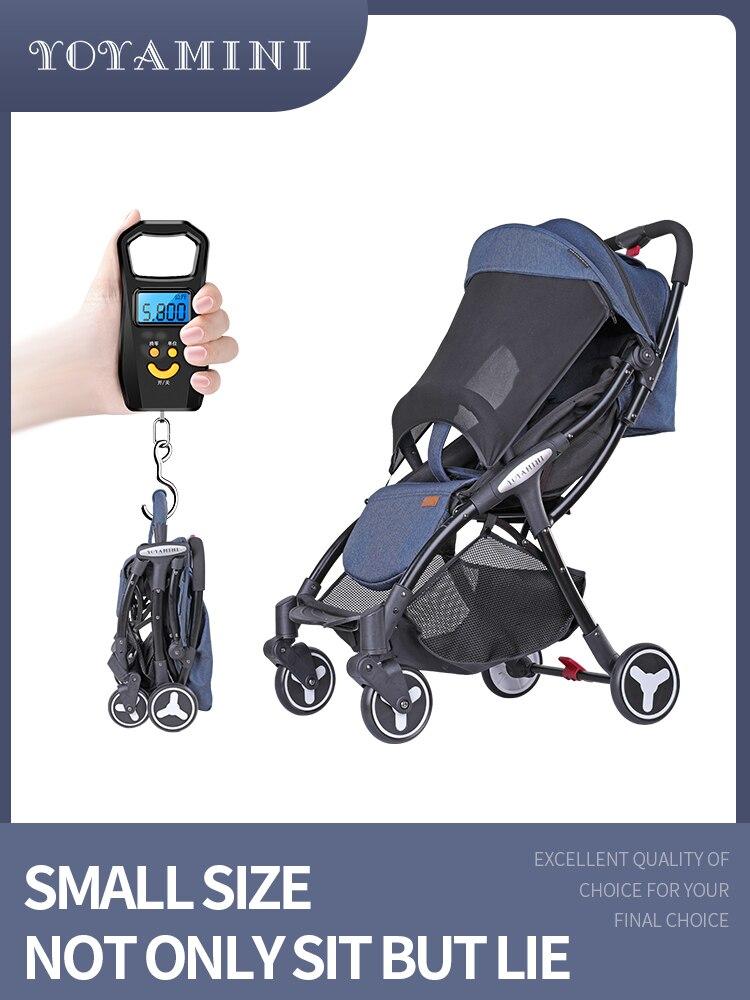 YOYA mini 5.8 kg poussette légère 0-3 ans 2019 siège peut être ajusté jusqu'à 170 degrés contient ombrage capot bébé poussette