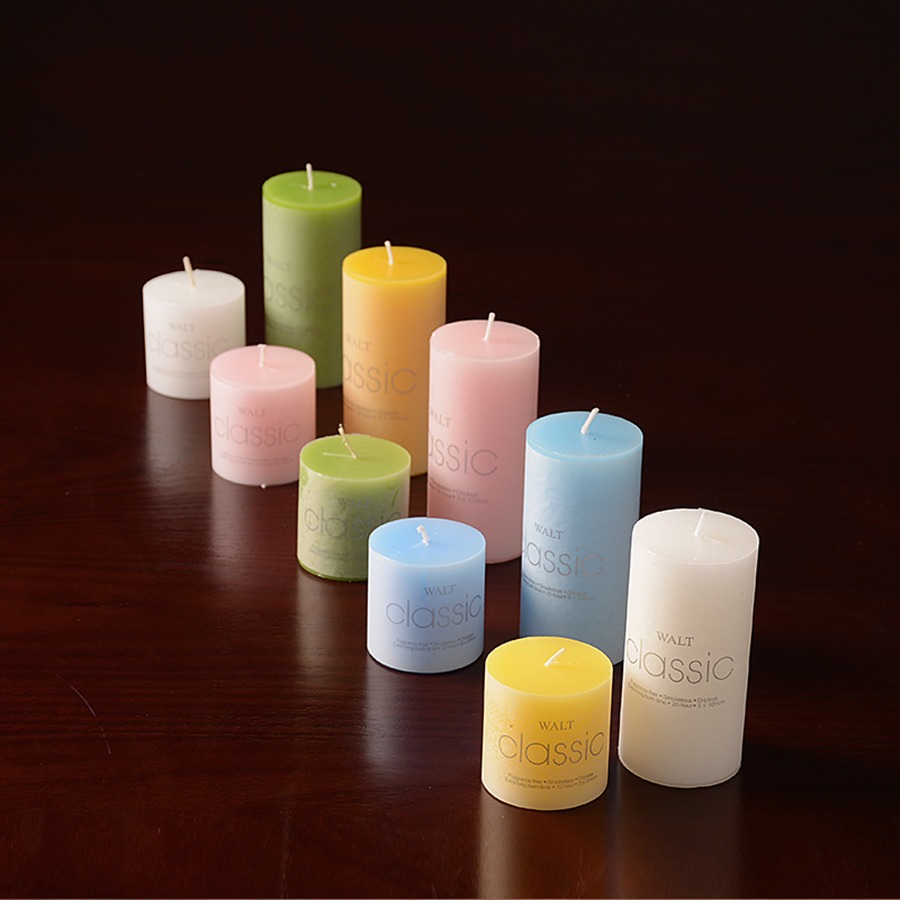 Modern Living Room Simple Candles Round Small Tealight Candle Wedding Decorative Candles Mariage d Coration Wax Candle 50KO328 in Candles from Home Garden