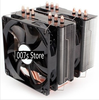 New Radiator PC CPU Cooler Cooling Fan For Intel LGA 775/115x/AM2/AM3/AM4 EDDY-120R 4 Heatpipes TDP 220W Dual PWM LED 4pin 120mm new pc cpu cooling fan cooler heatsink for intel lga775 am2 am3 754 939 940 c77 dropship