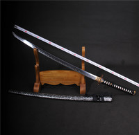 handmade t10 steel clay swords blade japanese tanto samurai sword katana decoration real skin katana ready folding copper tsuba