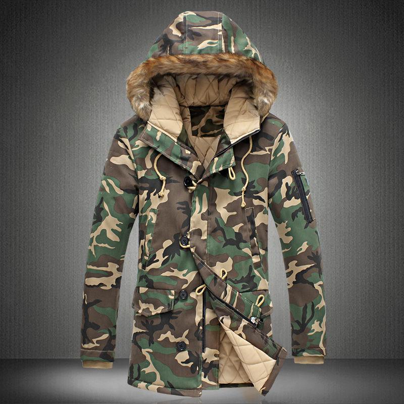 2020 New Brand Winter Men Thick Camouflage Jacket Men's Parka Coat Male Hooded Parkas Jacket Men Military Overcoat