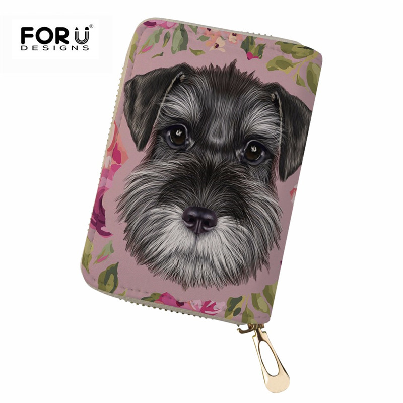 Coin Purses & Holders Thikin Women Card Holder Corgi Dog Print Female Passport Cover Pu Leather Credit Card Holder Lady Girls Travel Purses& Wallets Card & Id Holders